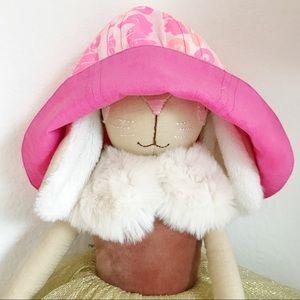 NWT Reversible Pink floral Summer Har bonnet